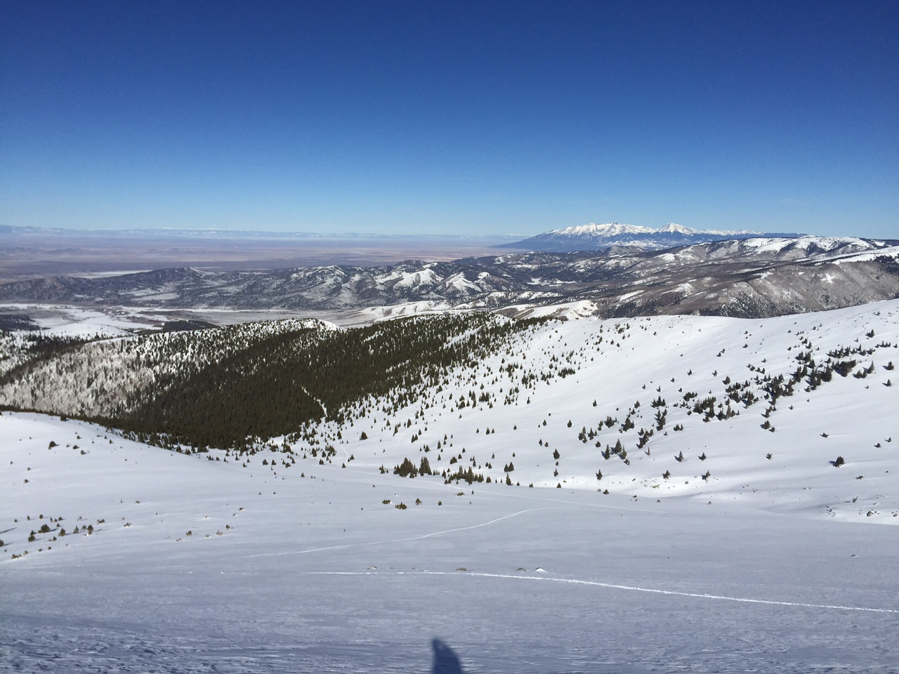 Awesome views to the north and down into the NW bowl.