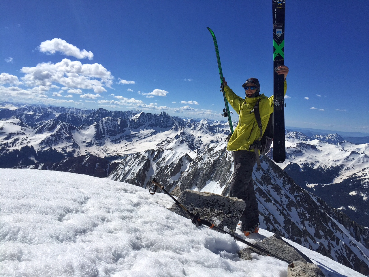 Top of the world on Snowmass 14,092'