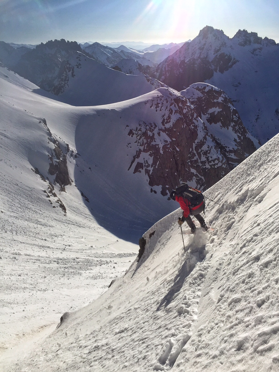 Eric getting after it in the East couloir.