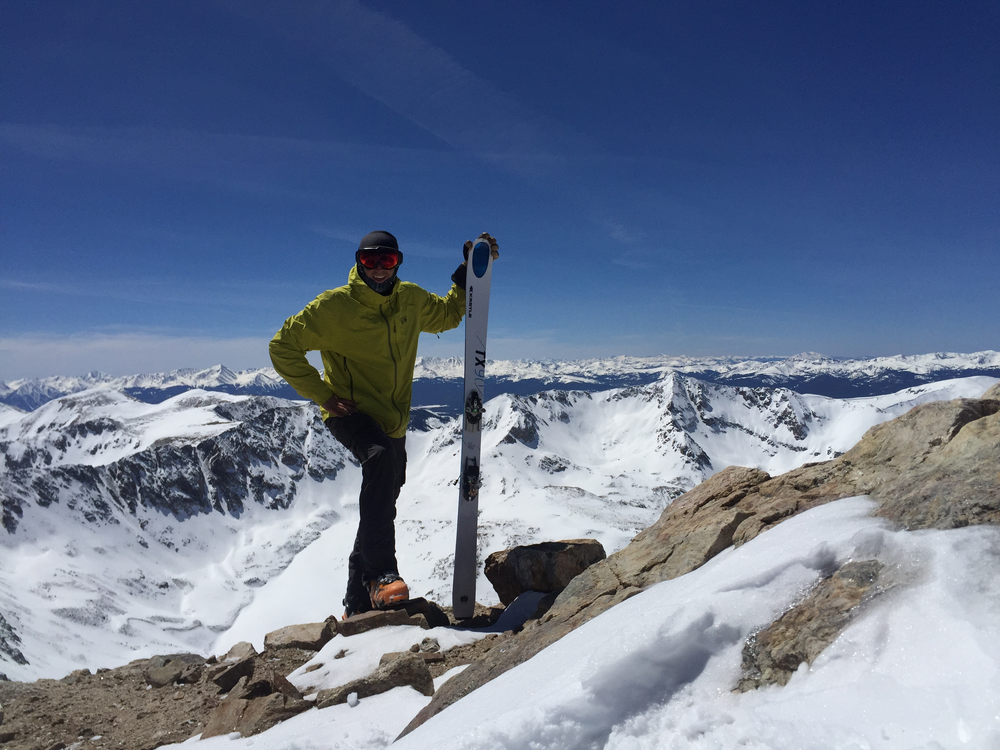Summit of Democrat 14,148', Peak #28.