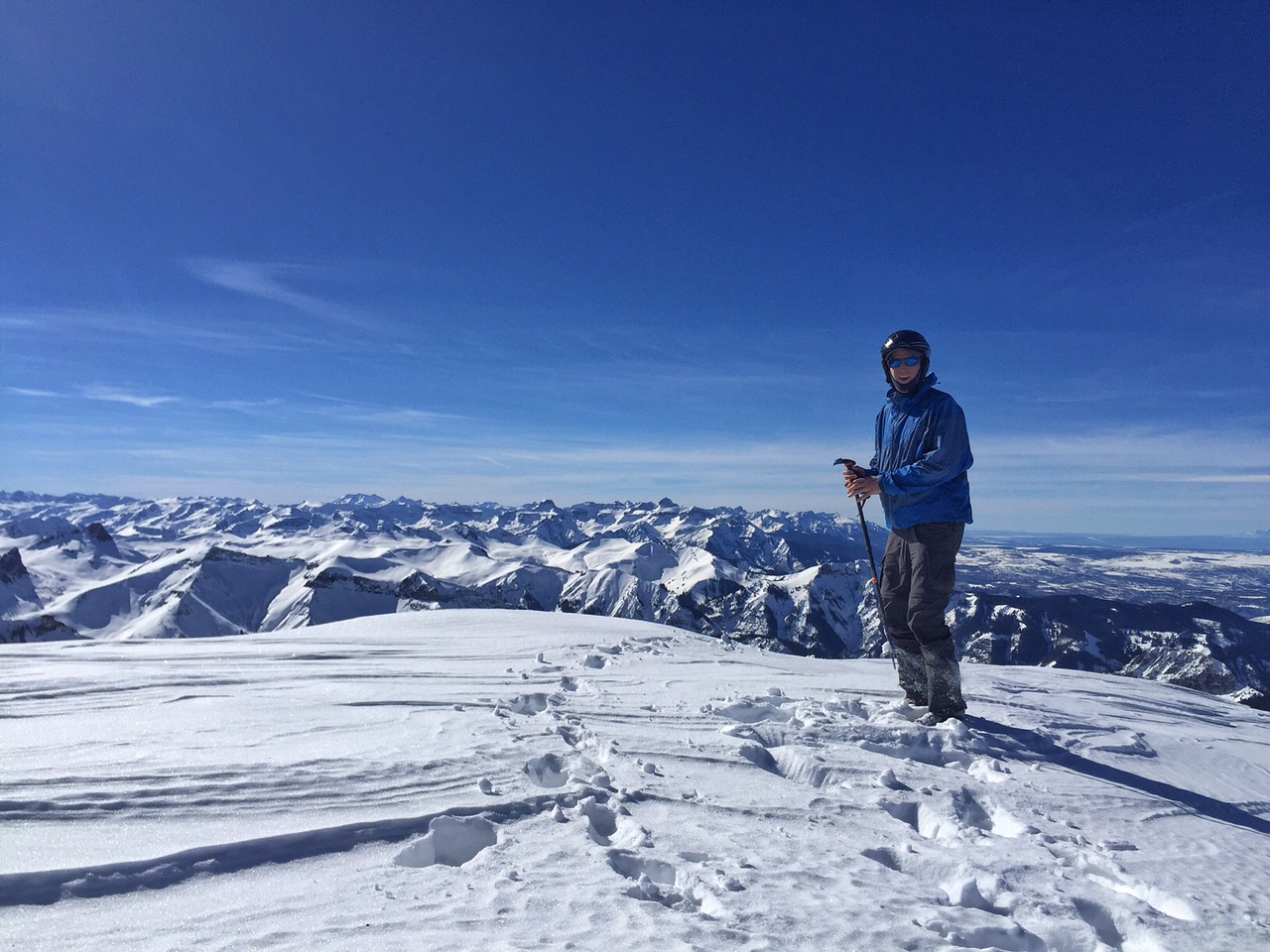 All alone on a winter summit!