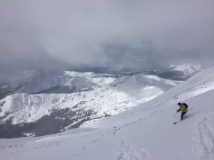 Making turns down the South side of Yale at 13,800'