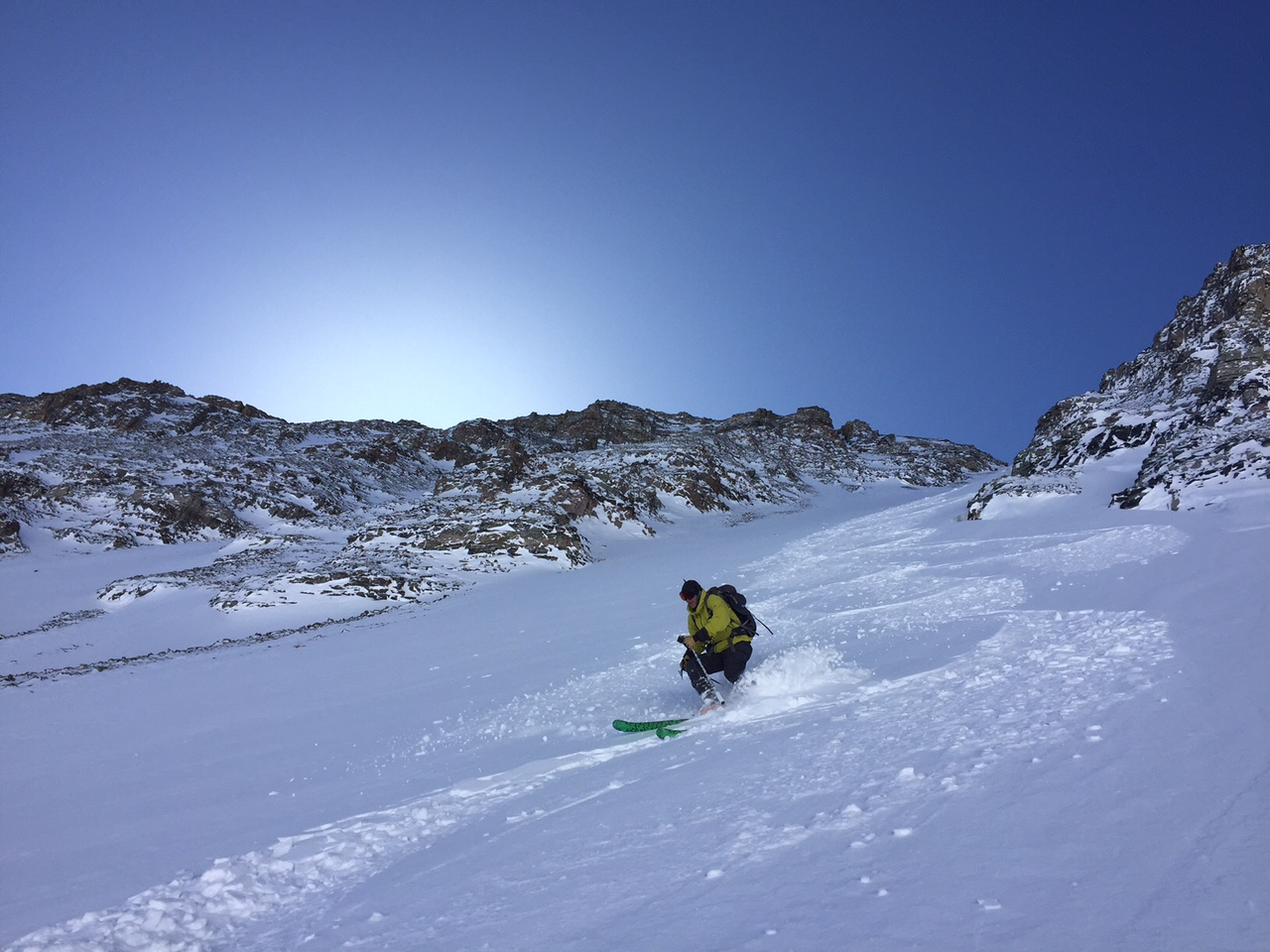 Creamy Turns in the North Couloir