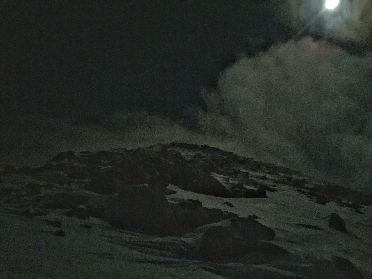 Full moon ascent.