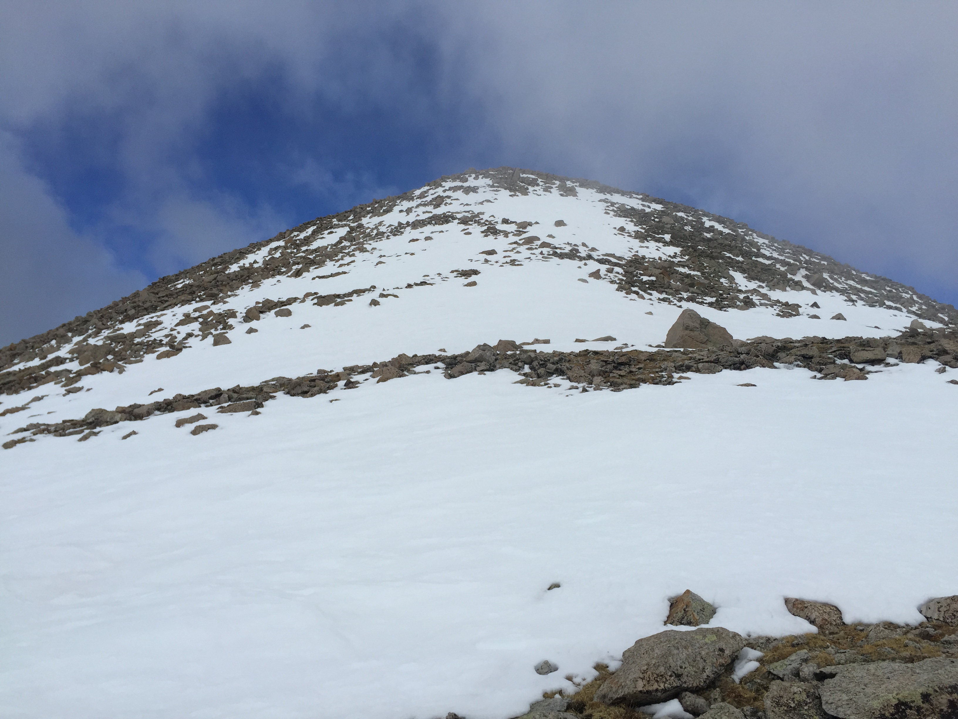Approaching the top of Shavano on the East Ridge.