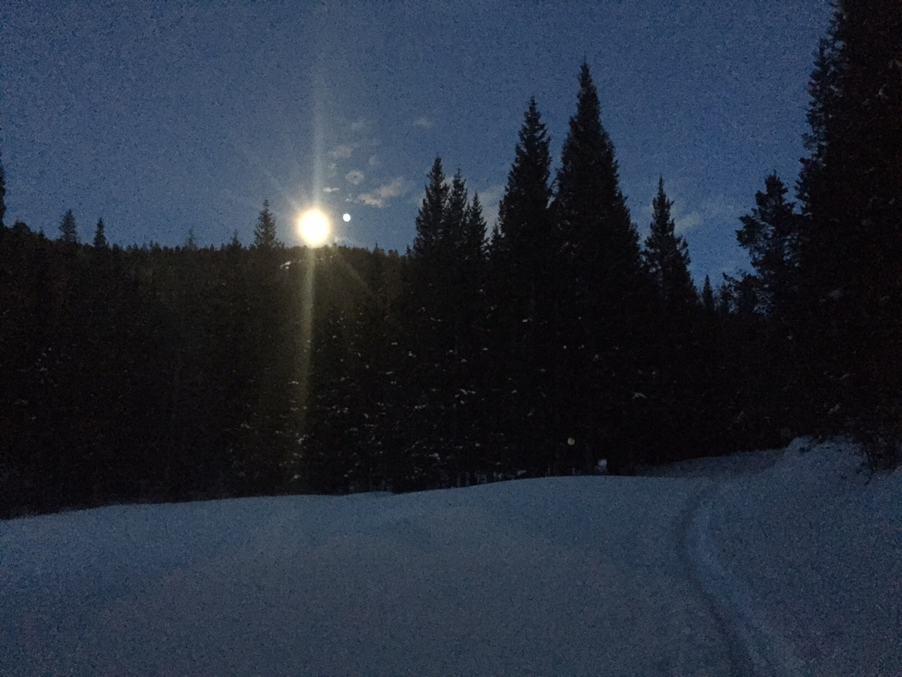 Full moon on a 14er is awesome!
