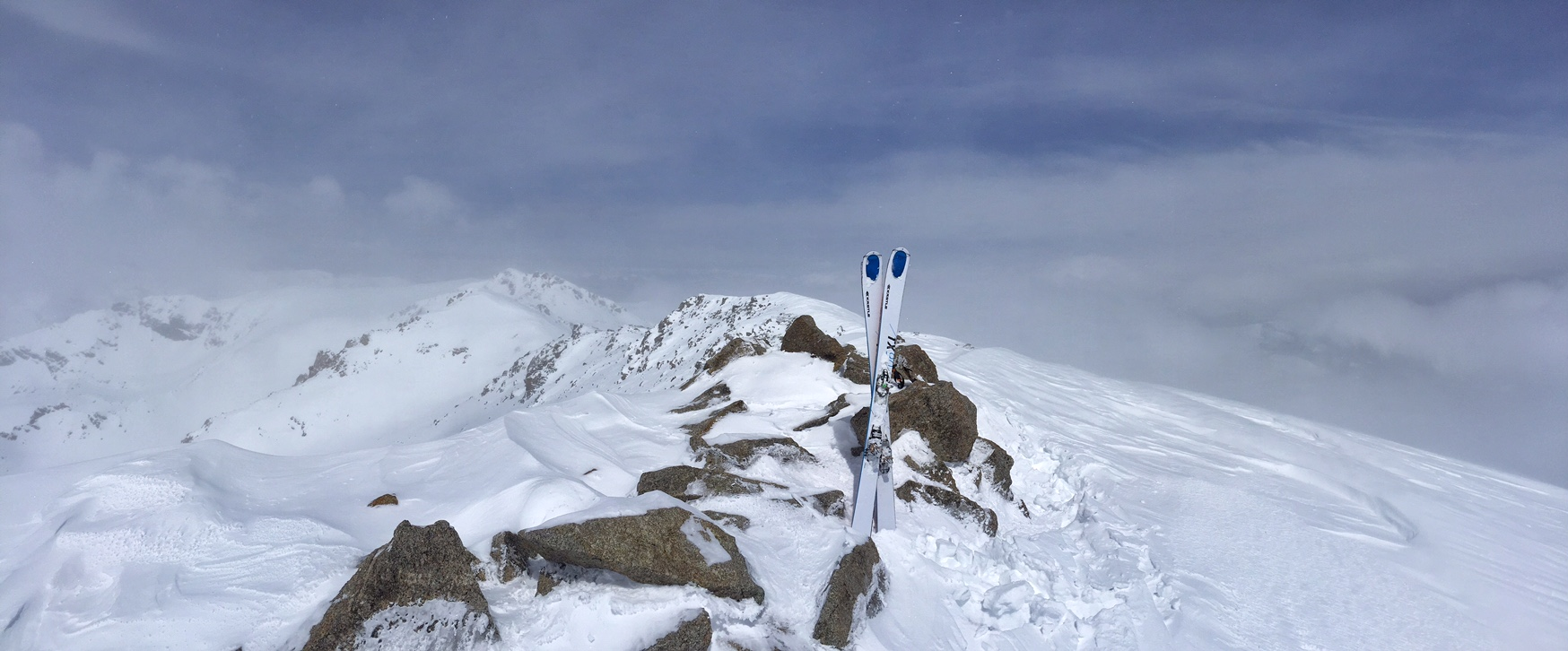Summit of Massive 14,420', My 6th official ski of this peak in my career.