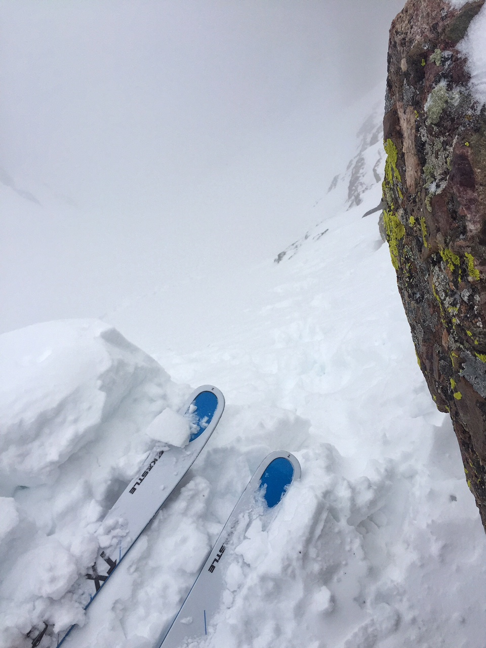 Getting ready to drop into the OB Couloir.