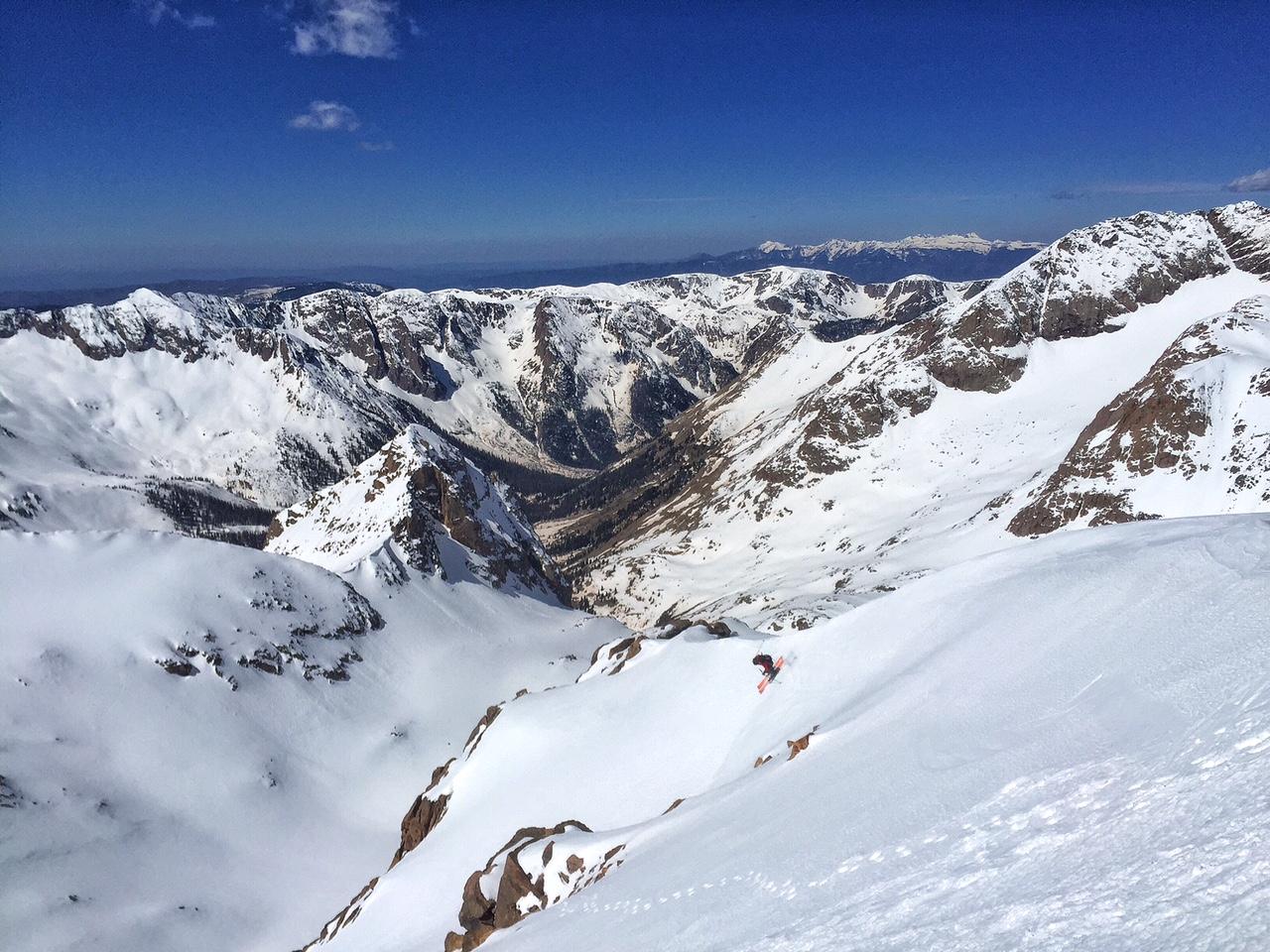 Skiing off Sunlight 14er.