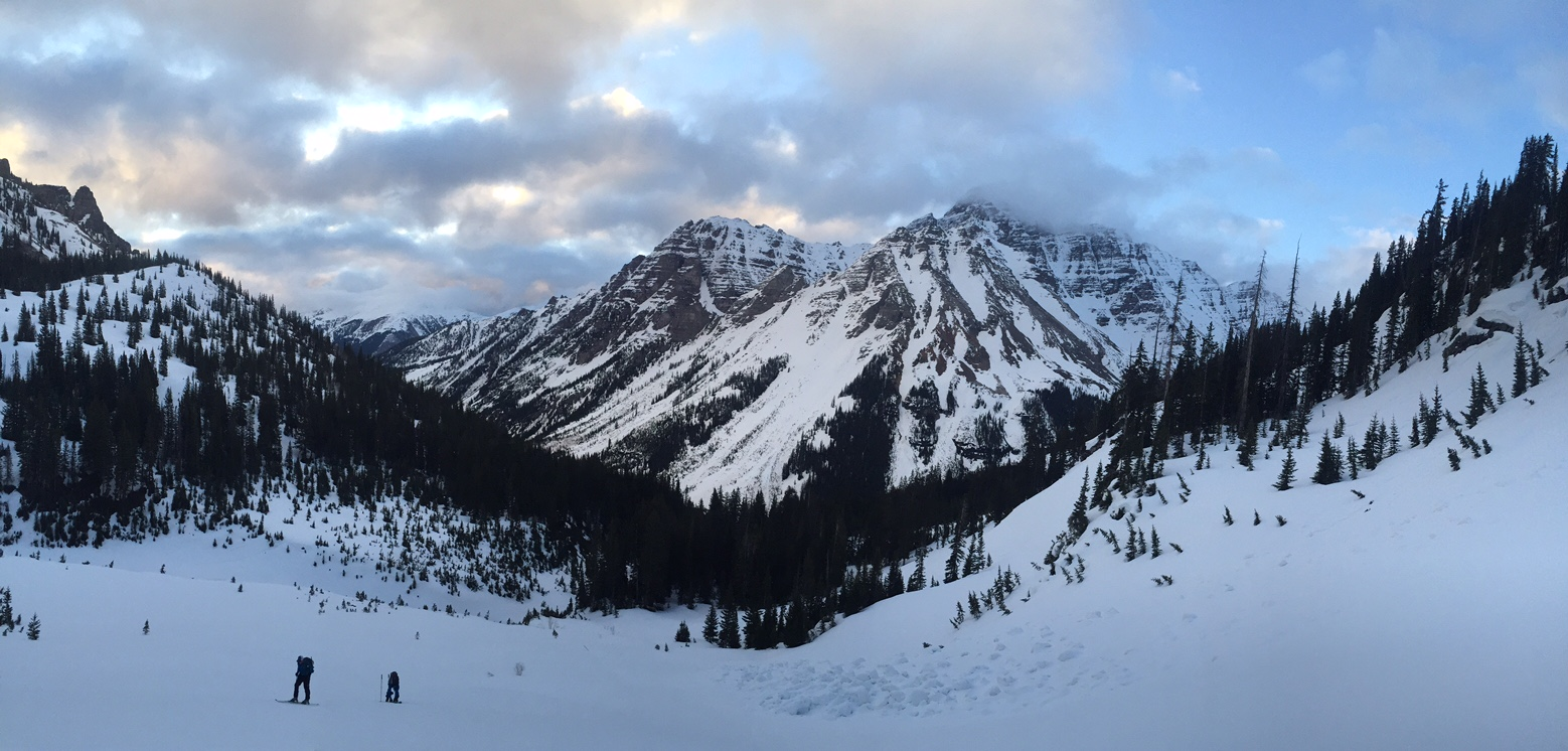 Pyramid Peak during the Magical hour as we ascended above the creek.